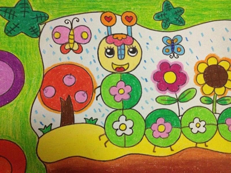 小学 儿童画范画:儿童画线描教师范画:优秀儿童画范