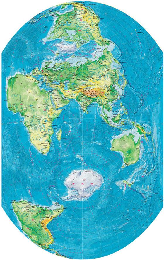 """一张竖版世界地图刷新你的""""世界观"""""""