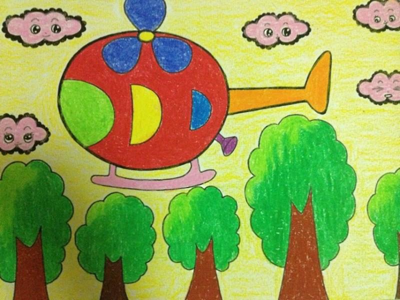 简单儿童画范画::儿童画教学范画图片::四季画春夏