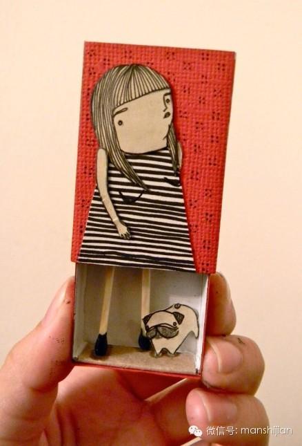 【慢创意】火柴盒可爱小人偶