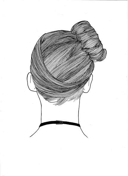 今天搜集各种线描的头发画法,假期有时间可以随手勾画一下哦!图片