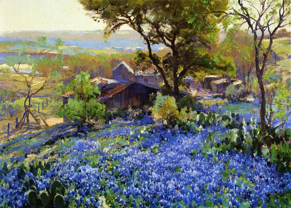 蓝色迷情—julian onderdonk风景油画作品