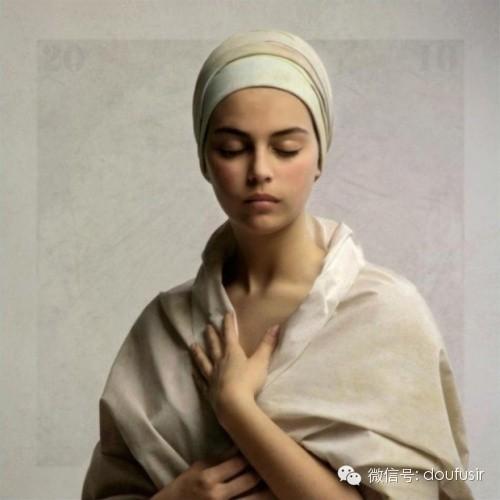 古典油画风格人像摄影图片