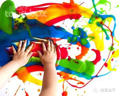而手指与颜料的接触