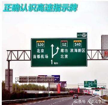 高速路指示牌图解,看懂后可以不用导航了