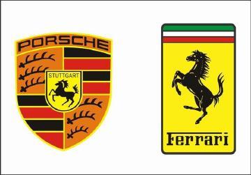 保时捷跟法拉利标志_法拉利和保时捷的logo都是一匹马,各有什么含义?-新浪汽车