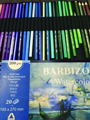 咖啡厅手绘彩铅设计图展示