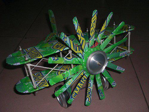 易拉罐diy超酷的飞机模型手工制作图解