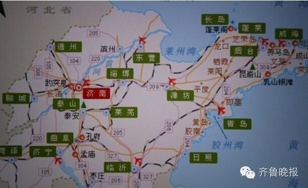 泰安手绘历史地图