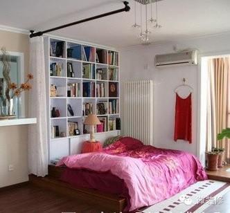 踏踏米书房设计图片/卧室兼书房设计效果图《微装修