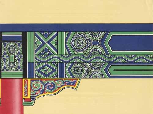 中国古建筑彩画设计图案