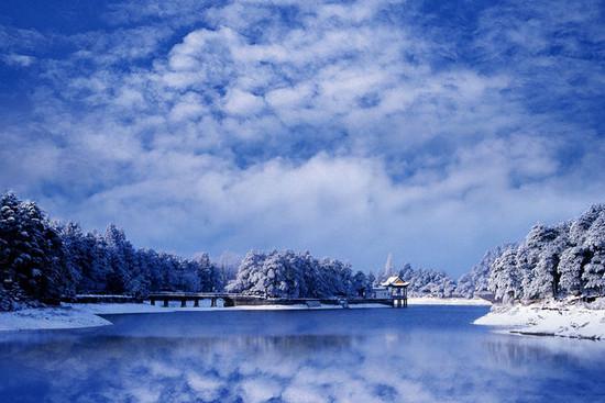冬天开车路上风景