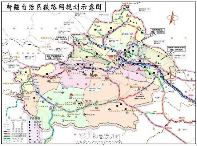 各省铁路十三五规划图