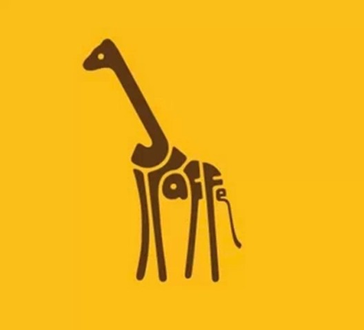 animals」,他将动物的英文名字用字形设计以及简单符号排成动物形体的