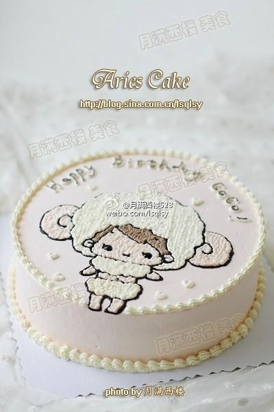 白羊座小美女蛋糕--coco小朋友的生日蛋糕