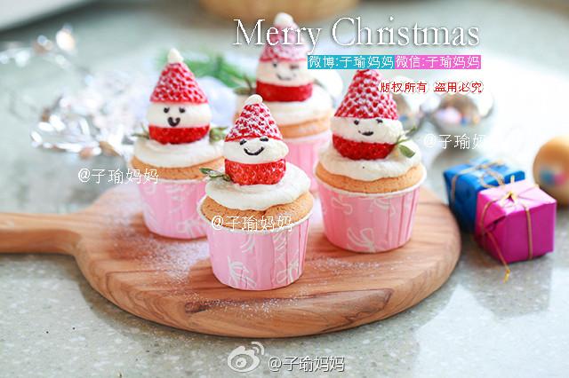 圣诞可爱纸杯蛋糕,做法超超超级简单哦~快要转疯了