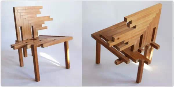 手工作品木头桌子