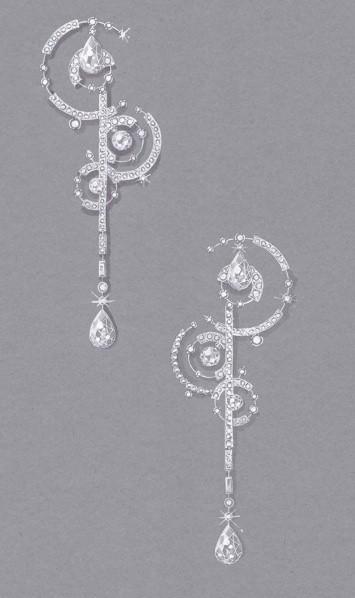 大牌珠宝手绘设计图展示