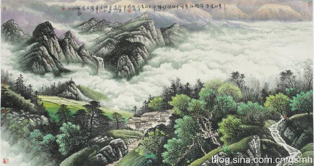 九十年代初,中国水彩画鼻祖画坛世纪老人李剑晨先生看了邵叶道的虎画