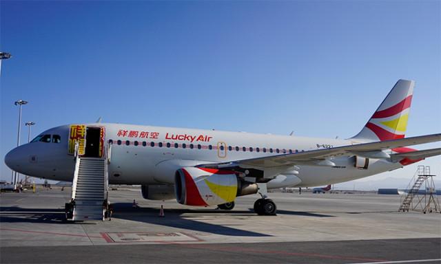 祥鹏航空公司已涂装新标志的飞机