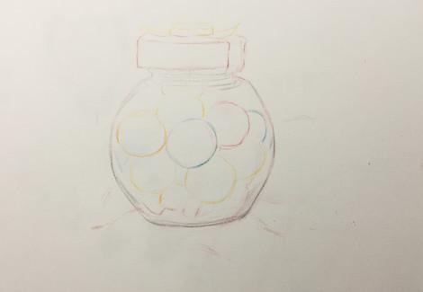 彩铅西瓜的画法步骤