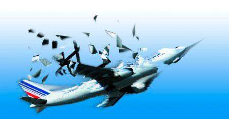 精疲力竭的机长准备把飞机降落在一个下滑道信标有