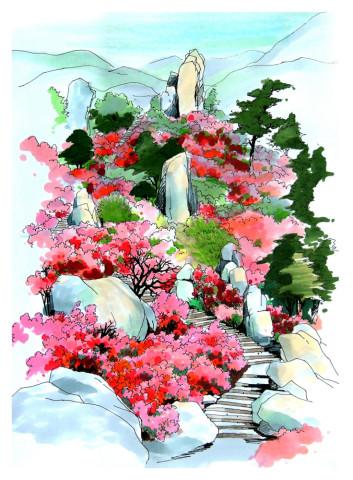 原标题:马克笔 细腻的植物手绘   封面图非哥帮大家转90°看,手机横