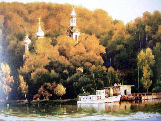 超越自然--黄铁山风景水彩画作品欣赏