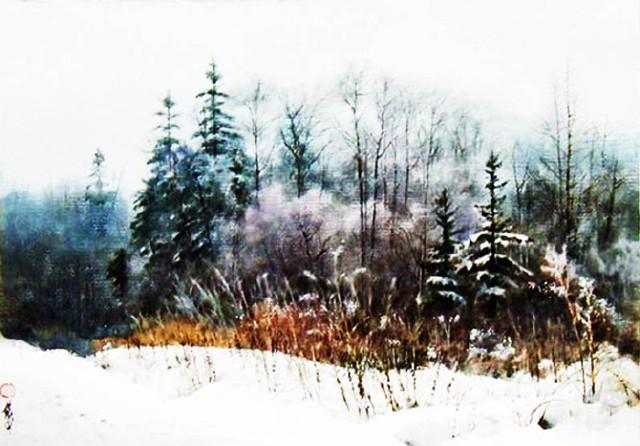 越自然 黄铁山风景水彩画作品欣赏