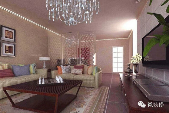 无吊顶造型设计客厅装修效果图