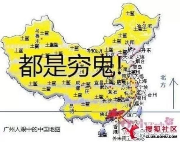 青岛景点分布手绘地图