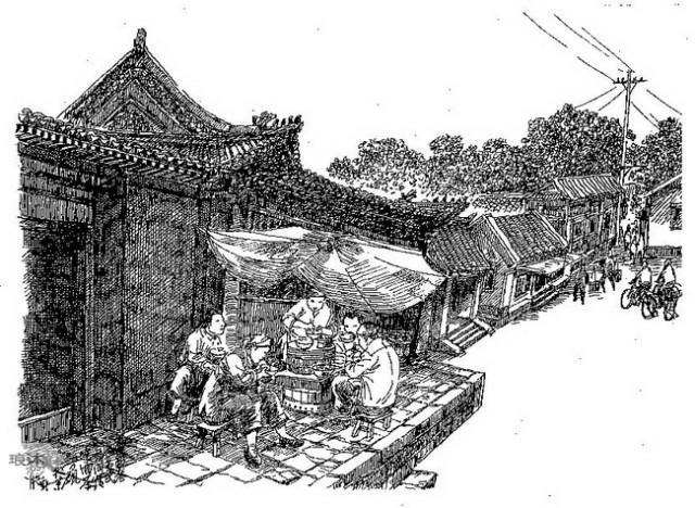 『 笔墨再现老北京 -- 方砚钢笔画作品欣赏 』