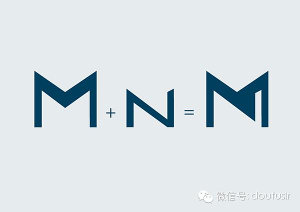 首字母正負形組合的logo品牌設計