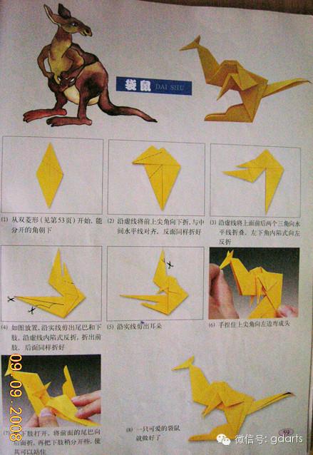 会跳的青蛙折纸方法,有图解!