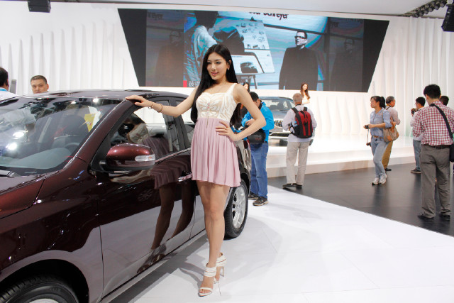 国际汽车展览会美女车模
