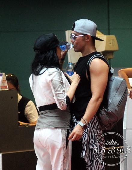 钟丽缇与一同参与综艺节目的绯闻男友张伦硕