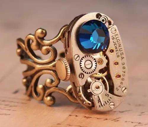 蒸汽朋克范儿十足的齿轮戒指