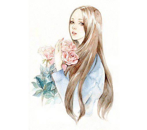 《有一点文艺和清新的韩国女生头像素材》