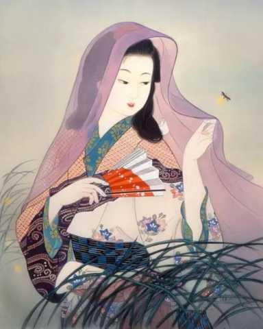 日本复古美女 | 插画-798手绘网-视觉资讯