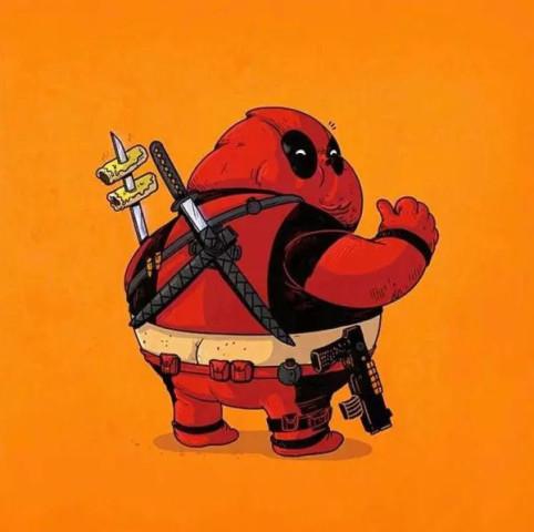肥胖者联盟——酷帅超级英雄变大肚腩