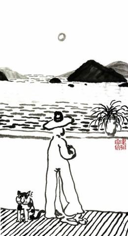 老树画画:春风吹来了 ,去看大好湖山