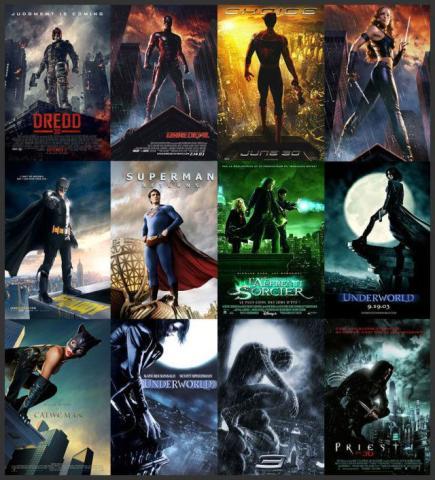 【好莱坞】电影好莱坞海报设计模式