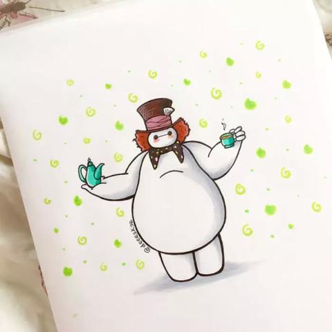 发现 大白 这胖子穿 什么 像 什么 还在跟迪士尼公