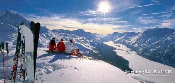 冬季少女风景图片