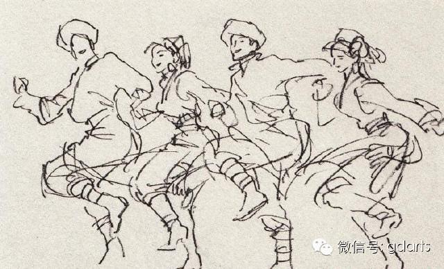 舞蹈--陈玉先速写作品欣赏