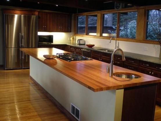 58个舒适厨房木质台面