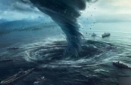 一位曾在百慕大三角海区遇到过咫风的船长说