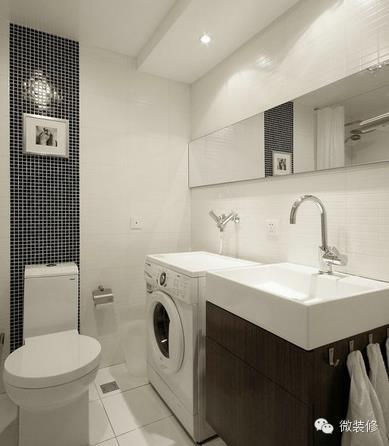 分享最新的6款小户型卫生间洗衣机摆放装修效果图