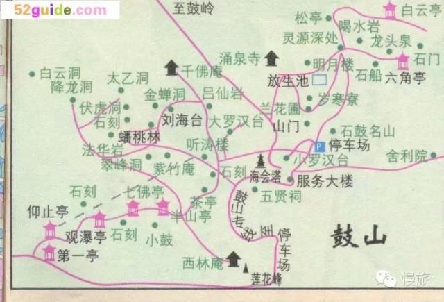 福州乌山风景区游览图