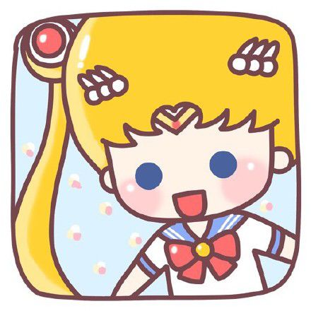 卡通版的美少女战士动漫人物微信头像素材-小清新
